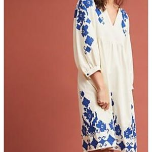 Jora Embroidered Peasant Dress